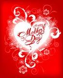 Kaart van het de Dag de Typografische Ontwerp van gelukkige Moeders Royalty-vrije Stock Afbeelding