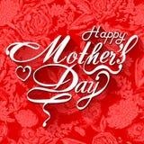 Kaart van het de Dag de Typografische Ontwerp van gelukkige Moeders Royalty-vrije Stock Foto