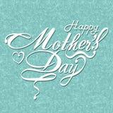 Kaart van het de Dag de Typografische Ontwerp van gelukkige Moeders Stock Foto's