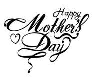 Kaart van het de Dag de Typografische Ontwerp van gelukkige Moeders Royalty-vrije Stock Fotografie