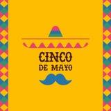 Kaart van het de sombrerocitaat van Cincode Mayo de Mexicaanse mariachi