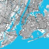 Kaart van het de Stads de Grote Gebied van New York stock illustratie
