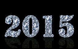 Kaart van het diamant de nieuwe 2015 jaar Royalty-vrije Stock Afbeeldingen