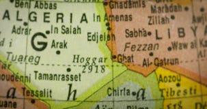 Kaart van het gebied van het land van Niger stock footage