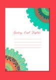 Kaart van het Mandala de oosterse malplaatje Royalty-vrije Stock Fotografie