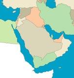 Kaart van het Midden-Oosten stock illustratie