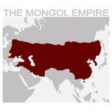 Kaart van het mongoolse Imperium royalty-vrije illustratie