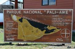 Kaart van het Park Pali Aike Royalty-vrije Stock Foto's