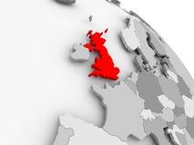Kaart van het Verenigd Koninkrijk Stock Afbeeldingen
