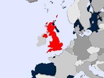 Kaart van het Verenigd Koninkrijk Stock Foto's