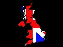 Kaart van het Verenigd Koninkrijk Royalty-vrije Stock Foto's