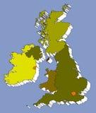 Kaart van het Verenigd Koninkrijk Stock Foto