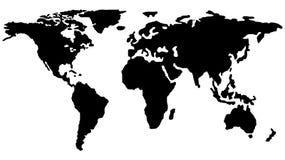 Kaart van het Wereldoverzicht EPS 10 stock illustratie