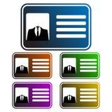Kaart van identiteitskaart van de kleurrijke, gradiënt de anonieme zakenman Vijf kleurenvariaties vector illustratie