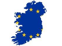 Kaart van Ierland stock illustratie