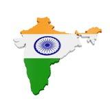 Kaart van India Stock Foto's