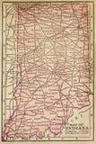 Kaart van Indiana Royalty-vrije Stock Foto