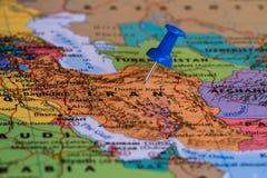 Kaart van Iran Royalty-vrije Stock Foto