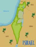 Kaart van Israël in beeldverhaalstijl stock illustratie