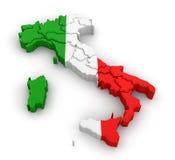 Kaart van Italië stock illustratie
