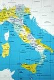 Kaart van Italië Stock Foto