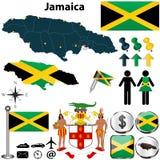 Kaart van Jamaïca stock illustratie