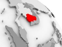 Kaart van Kambodja Stock Foto