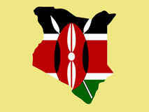 Kaart van Kenia Stock Fotografie