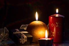 Kaart van Kerstmisdecoratie Royalty-vrije Stock Fotografie
