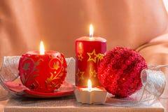 Kaart van Kerstmisdecoratie Stock Fotografie