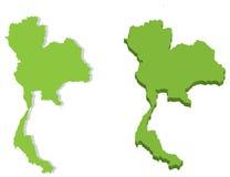 Kaart van Koninkrijk van Thailand Stock Afbeeldingen