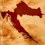 Kaart van Kroatië Stock Afbeeldingen