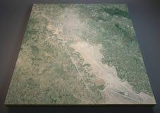 Kaart van Kunduz, Konduz, Afghanistan, satellietmening, Stock Afbeeldingen