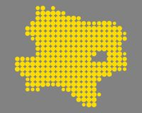 Kaart van Lager Oostenrijk stock illustratie