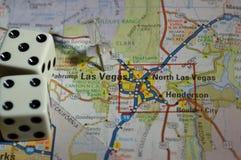 Kaart van Las Vegas royalty-vrije stock afbeelding