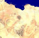 Kaart van Libië stock foto's