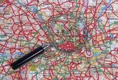Kaart van Londen Royalty-vrije Stock Foto
