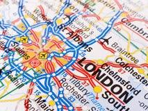 Kaart van Londen Stock Afbeelding