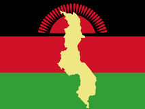 Kaart van Malawi Royalty-vrije Stock Foto's