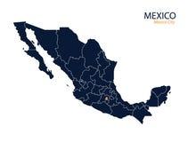 Kaart van Mexico Stock Fotografie