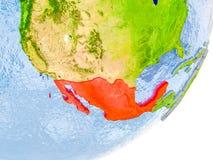 Kaart van Mexico ter wereld Royalty-vrije Stock Foto
