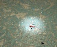 Kaart van Milaan van de binnenstad, Italië Stock Foto's