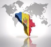Kaart van Moldova royalty-vrije illustratie