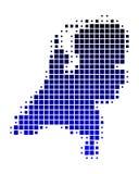 Kaart van Nederland royalty-vrije illustratie
