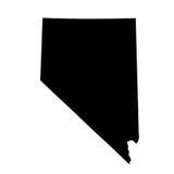 Kaart van Nevada op witte achtergrond Stock Foto