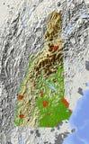 Kaart van Newhampshire, de hulp Stock Afbeeldingen