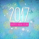 Kaart van nieuwjaar de eenvoudige ontworpen groeten Stock Afbeelding