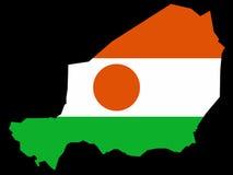 Kaart van Niger Stock Fotografie