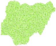 Kaart van Nigeria - Afrika - Royalty-vrije Stock Afbeeldingen