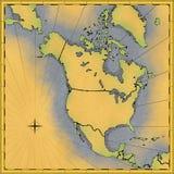 Kaart van Noord-Amerika Royalty-vrije Stock Afbeelding